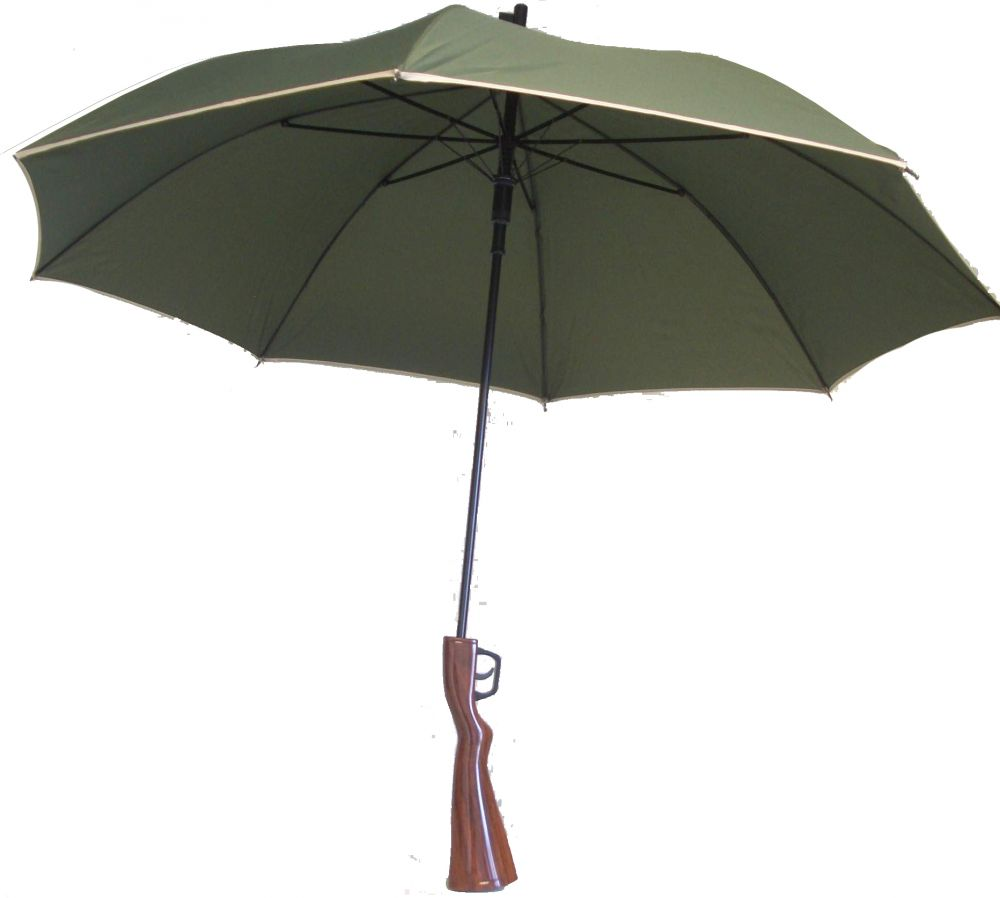 Esernyő puskatussal, fegyver esernyő