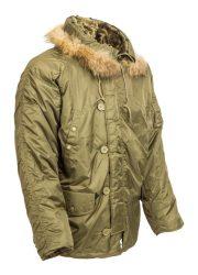 téli szőrmekapucnis téli kabát
