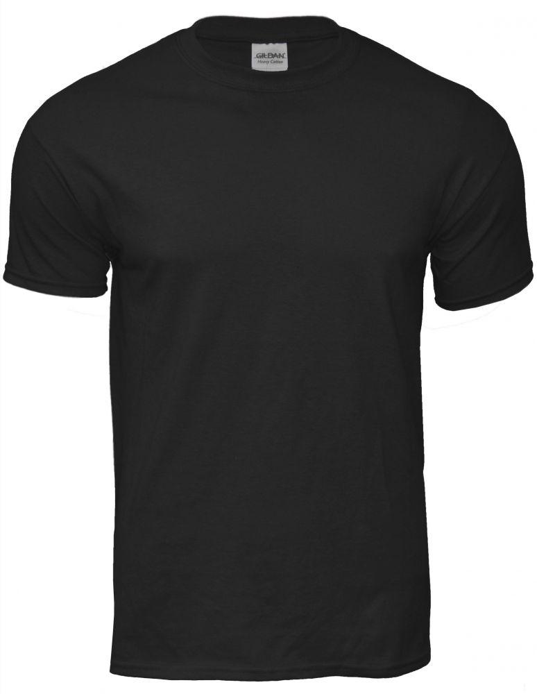 fekete pamut póló