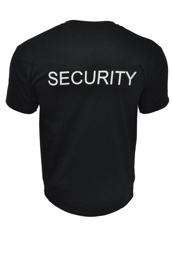 fekete security póló