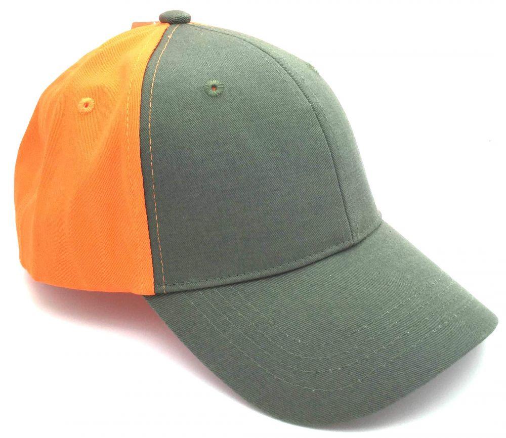zöld-narancssárga baseball sapka