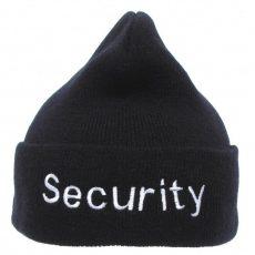 téli sapka security felirattal