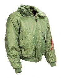 szőrmegalléros férfi CWU kabát