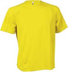 sárga sport póló