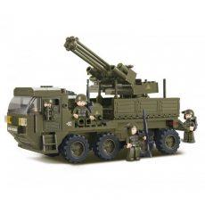 játék harci teherautó légvédelmi ágyúval