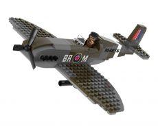spitfire vadászgép építőkockából - tereptarka.hu - armyshop - építőjáték