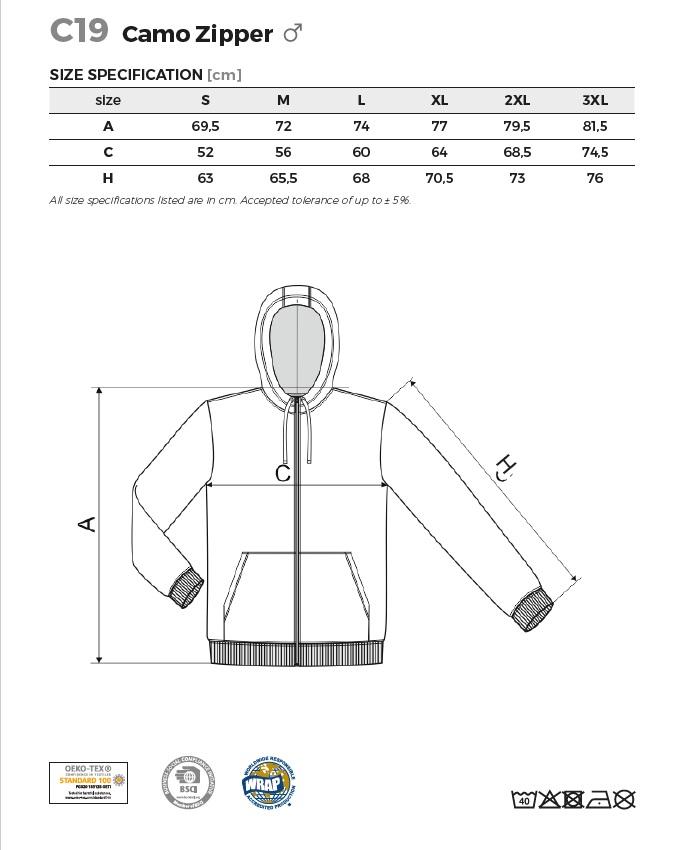 férfi terepmintás pulóver méretek