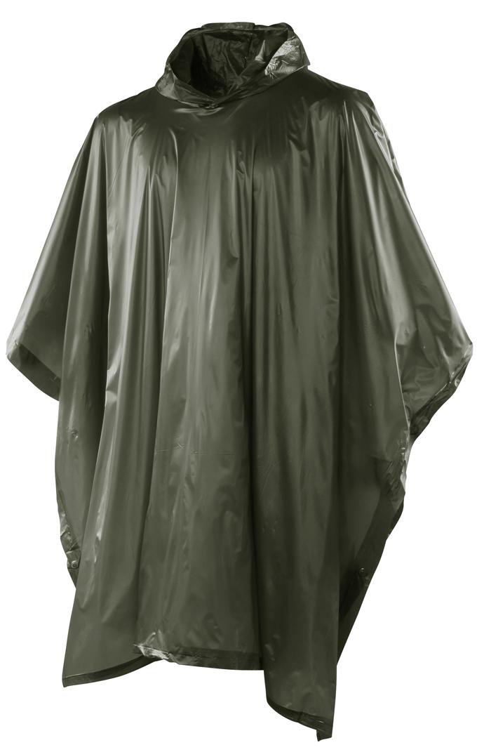 zöld kapucnis poncsó